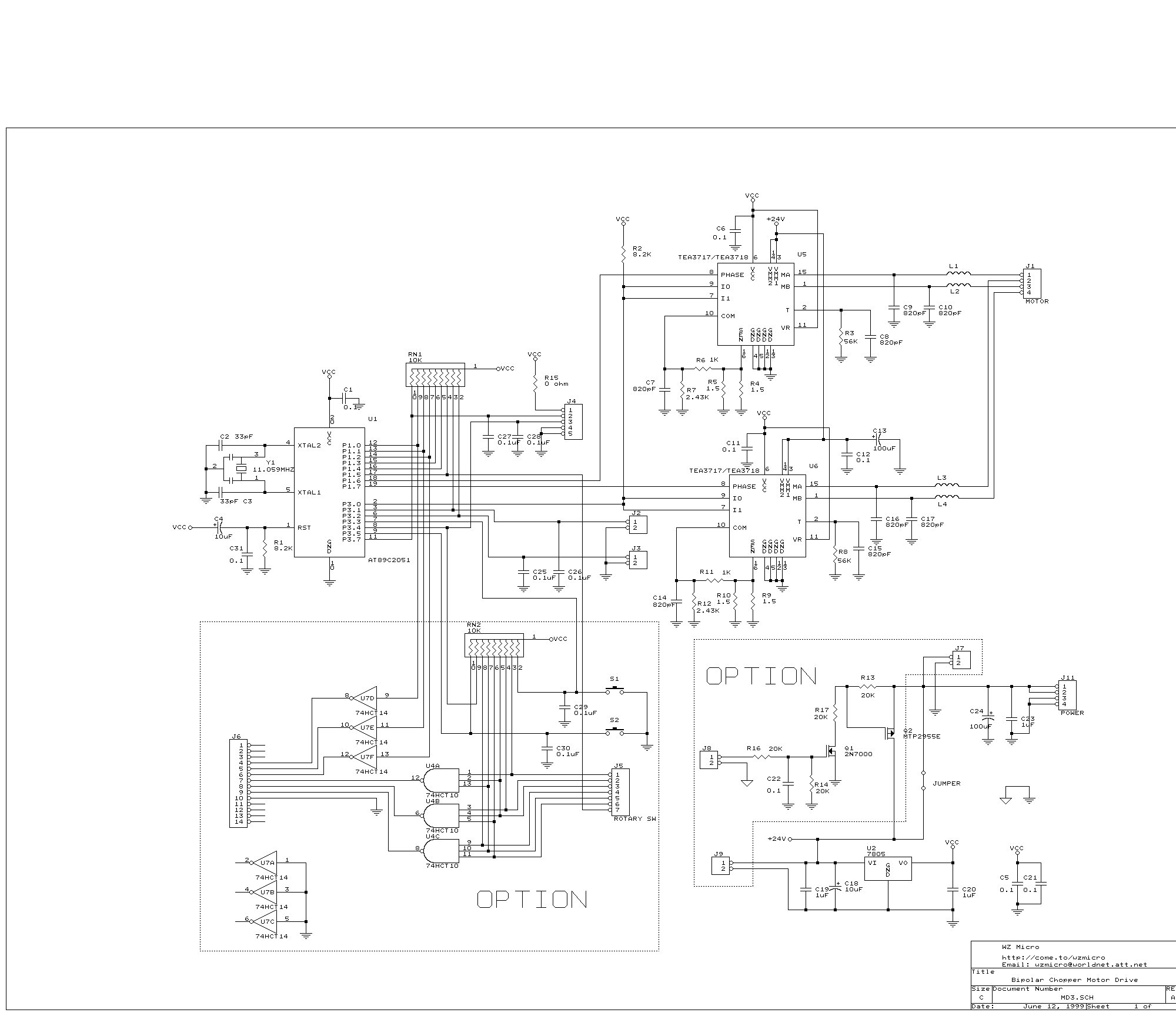 stepper motor controller board